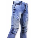 True Rise Spijkerbroek biker jeans skinny