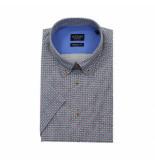Adam est 1916 Wit short sleeve geprint overhemd