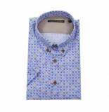 Eagle & Brown Blauw short sleeve overhemd met print