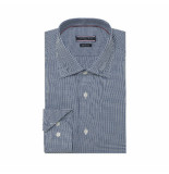 Tommy Hilfiger Blauw dobby overhemd
