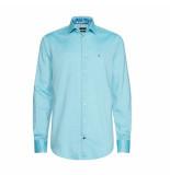 Tommy Hilfiger Overhemd dobby blauw