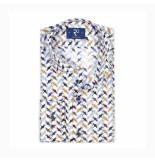 R2 Westbrook Overhemd lange mouw print wit multi