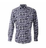R2 Westbrook Overhemd lange mouw midden blauw