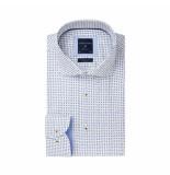 Profuomo Overhemd wit met stippen blauw