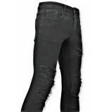 True Rise Ripped jeans spijkerbroek versleten