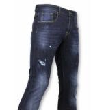 True Rise Basic broek jeans met verfvlekken