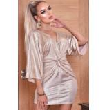 Catwalk Anika metallic twisted knot dress
