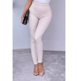 Catwalk Ayana animal trousers beige