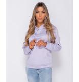 Parisian Oversized draw string hooded sweat-shirt lila