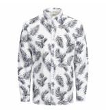 Jack & Jones Overhemd 12167086 white jprblasummer leaf