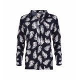 MAICAZZ Nisola blouse feather sp20.20.007 blauw