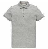 Cast Iron Cpss202868 940 short sleeve polo light pique stretch mid grey melee grijs