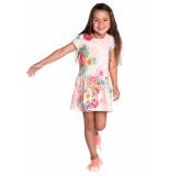 Room Seven  Jersey jurk taramel voor meisjes roze-