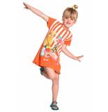 Room Seven  Jersey jurk tatoua voor meisjes oranje-