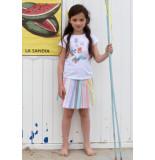 Room Seven  Jersey t-shirt tino voor meisjes wit-