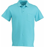 Commander 3-kn. polo-shirt,1/2 a 214007643/502 turquoise