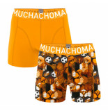 Muchachomalo Boys 2-pack shorts football incl keychain