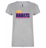 Blake Seven T-shirt 1101 bad habits grijs