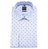 Olymp Level five slim fit overhemd met lange mouwen blauw