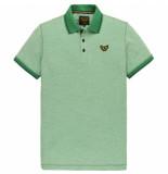 PME Legend Ppss202866 6253 short sleeve polo two tone pique bosphorus groen