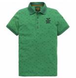 PME Legend Ppss202860 6253 short sleeve polo single jersey aop bosphorus groen