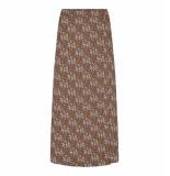 Co'Couture Bloemen rok bruin