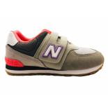 New Balance Sneakers 574 kids klittenband grijs