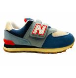 New Balance Sneakers 574 kids klittenband blauw