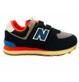 New Balance Sneakers 574 kids klittenband zwart