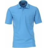Casamoda Sport poloshirt borstzak regular fit blauw