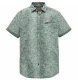 PME Legend Psis202253 6253 short sleeve shirt yd check all-over print bosphorus