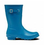 Hunter Regenlaars original short ocean blue blauw