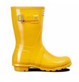 Hunter Regenlaars original short gloss yellow