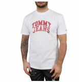 Tommy Hilfiger Tjm novel varsity logo tee wit