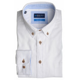 Bos Bright Blue Blue willem shirt casual bd 20107wi01bo/100 white wit