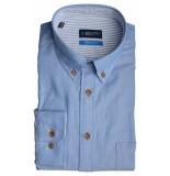 Bos Bright Blue Blue willem shirt casual bd 20107wi02bo/210 l.blue licht blauw