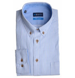 Bos Bright Blue Blue willem shirt casual bd 20107wi03bo/210 l.blue licht blauw