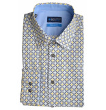Bos Bright Blue Blue willem shirt casual hbd 20107wi08bo/290 navy blauw