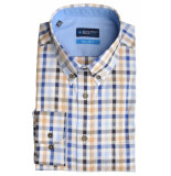 Bos Bright Blue Blue willem shirt casual bd 20107wi15bo/830 camel bruin
