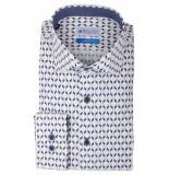 Bos Bright Blue Blue wesley shirt dressual 20106we49bo/290 navy blauw