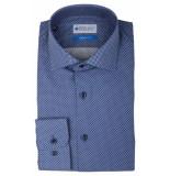 Bos Bright Blue Blue wesley shirt dressual 20106we65bo/290 navy blauw