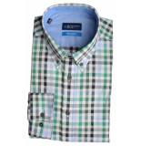 Bos Bright Blue Blue willem shirt casual bd 20107wi14bo/366 emerald groen
