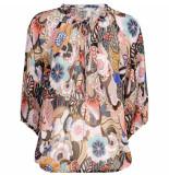 Summum 2s2417-11127 120 top long sleeves flower print multicolour