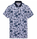 Cast Iron Cpss202862 4281 short sleeve polo two tone pique persian violet blauw
