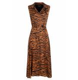 Ana Alcazar Blouse jurk zetam bruin