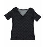 Geisha T-shirt 02031-60 liv zwart