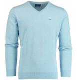 Bos Bright Blue Blue vince v-neck pullover flat kn 20105vi01bo/210