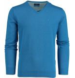 Bos Bright Blue Blue vince v-neck pullover flat kn 20105vi01bo/240
