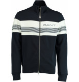 Gant Stripe sweat zip thro 2048002/433