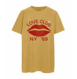 Newtone T-shirt love club mustard